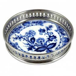 WINE COASTER DELFT BLUE FLOWER 12 CM