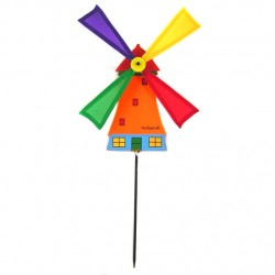 WINDMILL ORANGE NYLON on STICK 50 CM