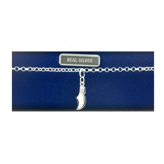 Zilveren armband 18 cm klompje