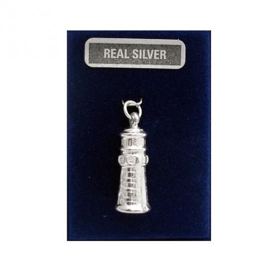 Zilveren bedel vuurtoren 22 mm